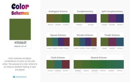 556b2f Color Schemes