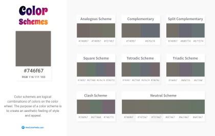 746f67 Color Schemes