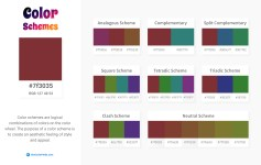 7f3035 Color Schemes