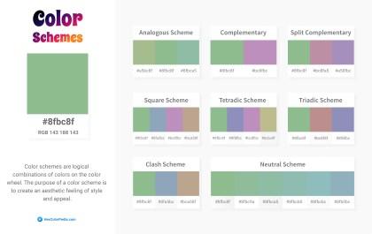 8fbc8f Color Schemes