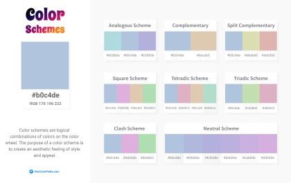 b0c4de Color Schemes