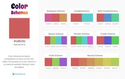 cd5c5c Color Schemes
