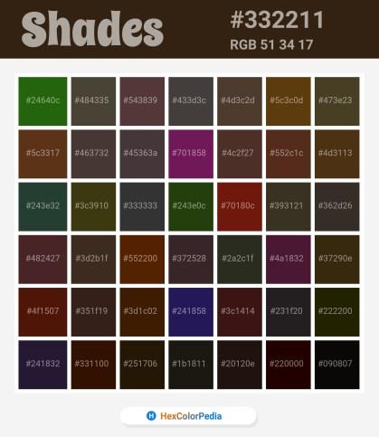 332211 Related / Similar Shades