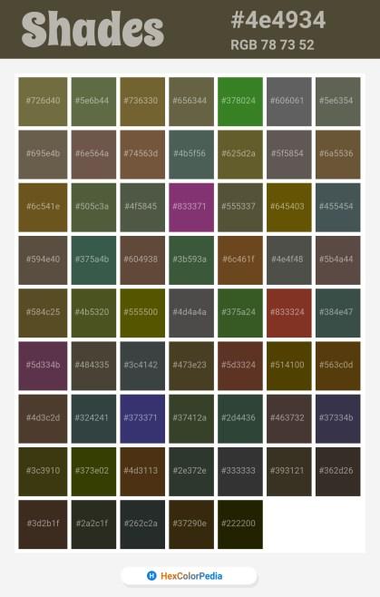 4e4934 Related / Similar Shades