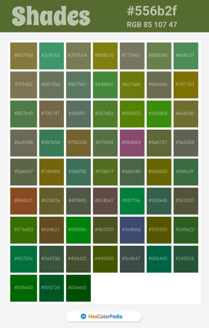 556b2f Related / Similar Shades