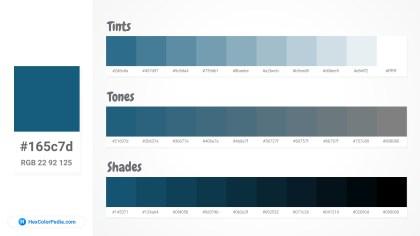 165c7d Tints tones & Shades