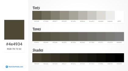 4e4934 Tints tones & Shades