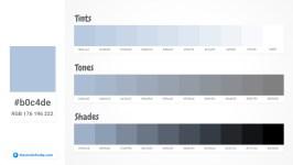 b0c4de Tints tones & Shades