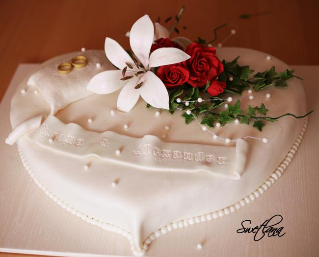 Besondere Anlsse 1  Hochzeitstorte in Herzform