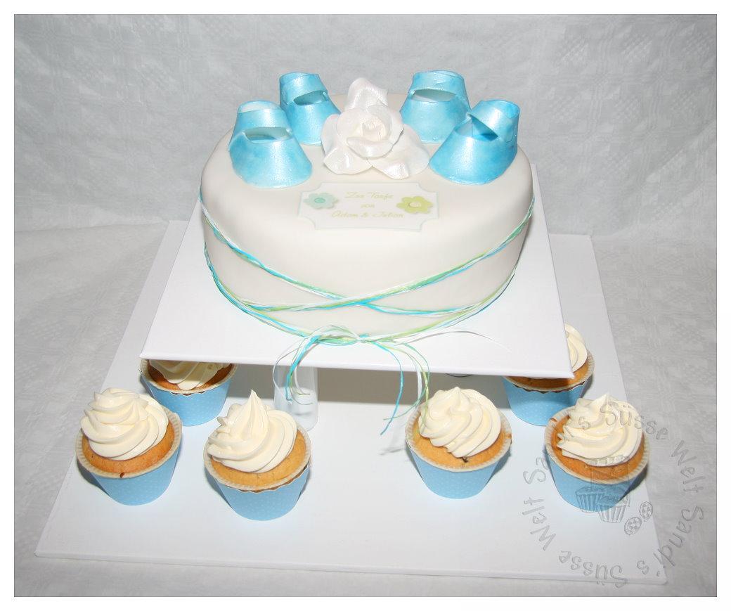 Besondere Anlsse 1  Tauftorte mit passenden Cupcakes