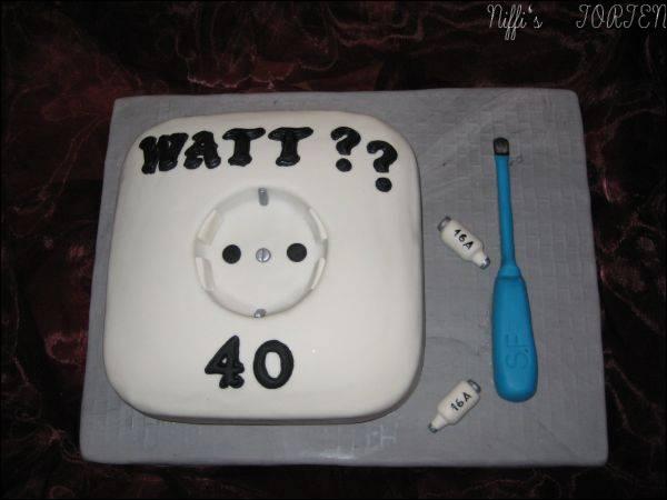 GeburtstagErwachsene  Elektriker Torte