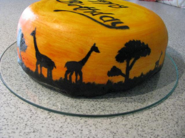 GeburtstagErwachsene  gemaltes Afrika