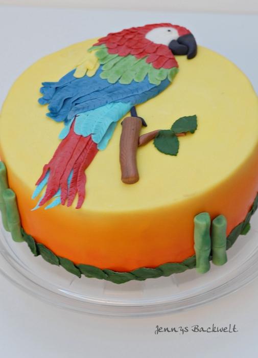GeburtstagErwachsene  Papagei Torte