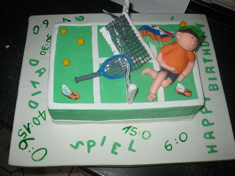 GeburtstagErwachsene  Torte fr Tennisspieler