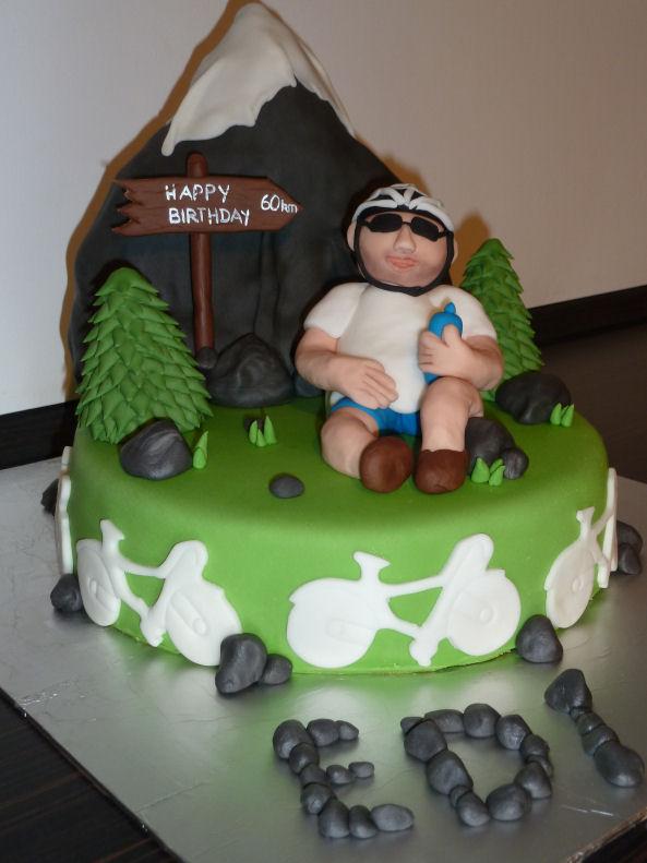 GeburtstagErwachsene  Fahrradfahrer Torte