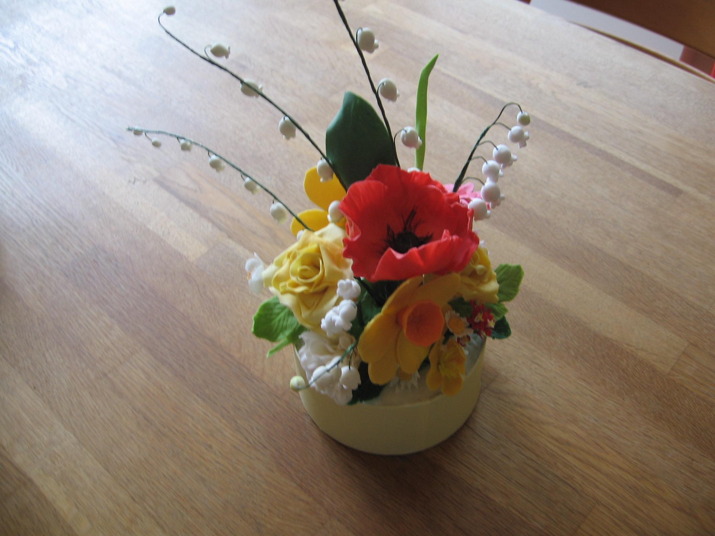 Zucker Kunstwerke  Das fertige Blumengesteck