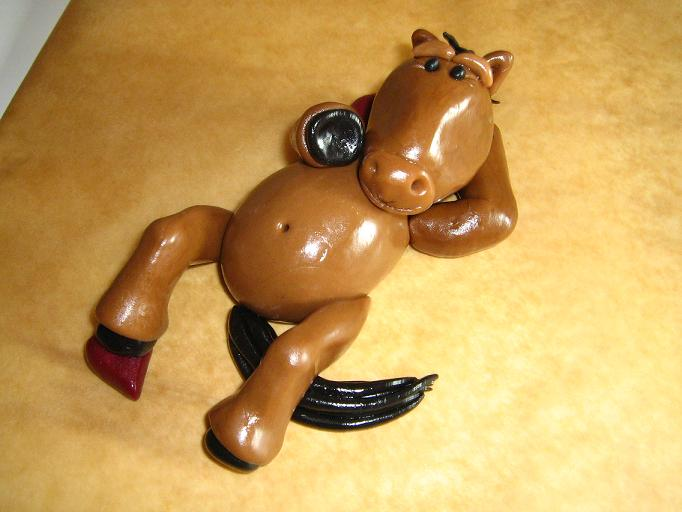 GeburtstagKinder  Pferd auf der Wiese hinterm Zaun