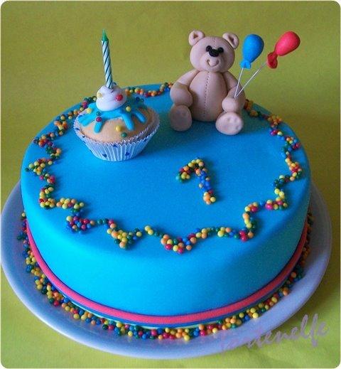 GeburtstagKinder  Bunte Brentorte zum 1 Geburtstag