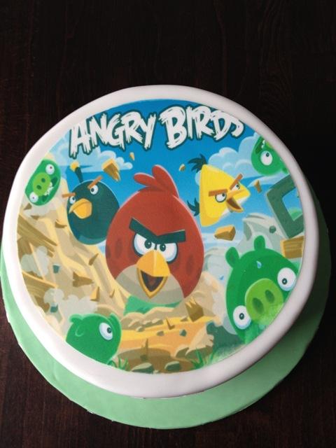 GeburtstagKinder  Angry Birds ganz schlicht