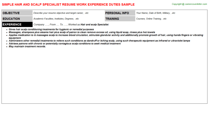 sample resume for disability specialist