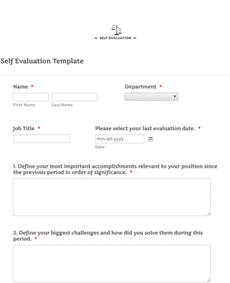 Below this there are two kinds of template, they are editable and printable. Self Evaluation Template Form Template Jotform