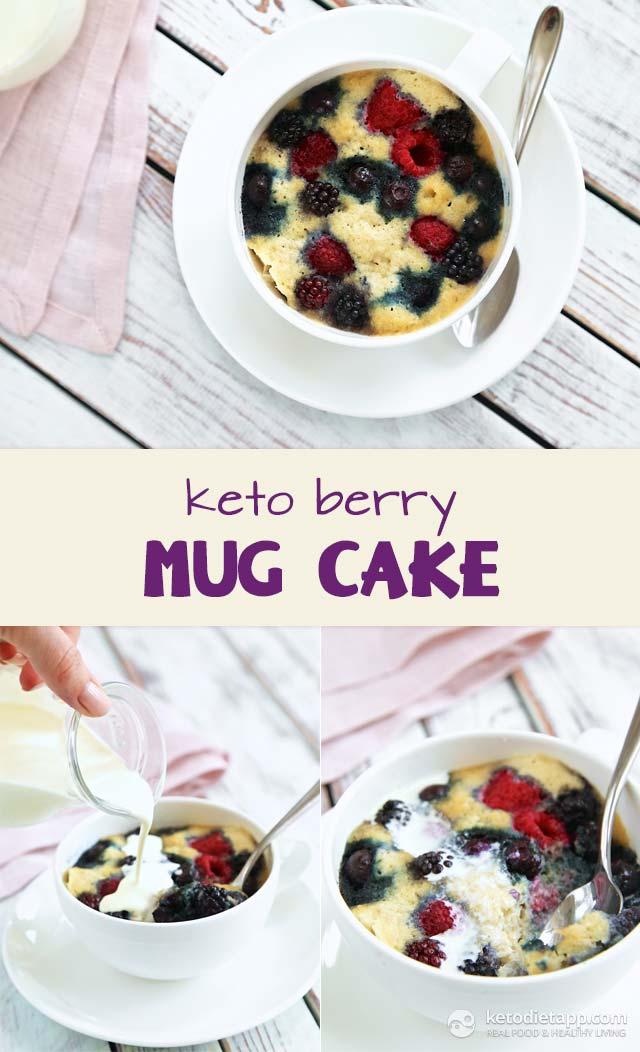 Vanilla Berry Mug Cake Keto : vanilla, berry, Berry, KetoDiet