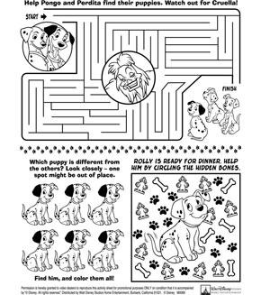 Disney homework pages