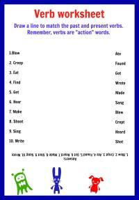 Kindergarten Verb Worksheet Match. Kindergarten. Best Free ...