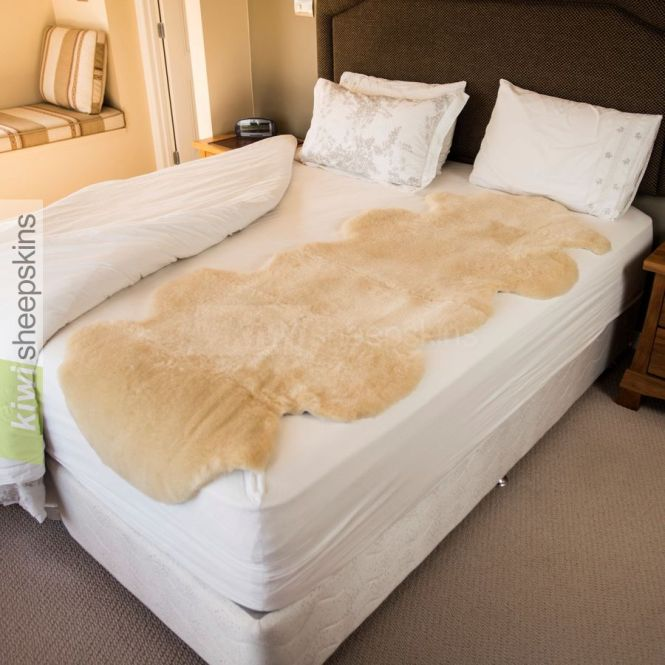 Medical Sheepskin Bed Pelt Underlay 2 Single Size