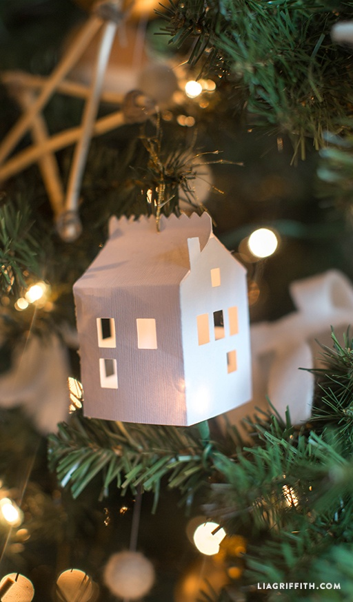DIY Paper House Christmas Ornament By Lia Griffith