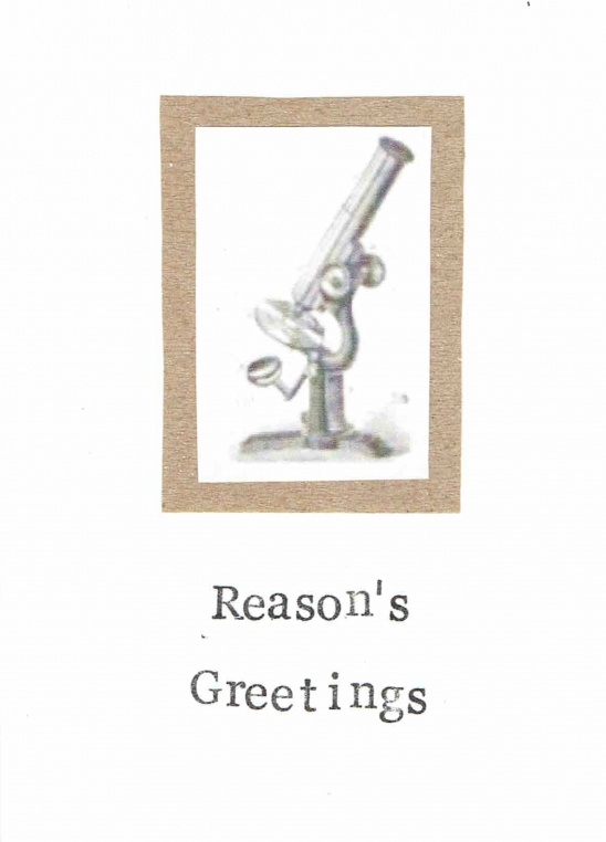 Reasons Greeting Science Holiday Christmas Card By Blue