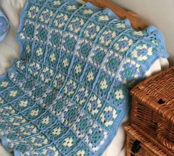 Crochet Granny Square Lap Blanket by Claireabellemakes