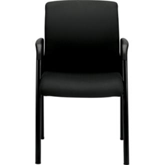 hon ignition fabric chair one stool higcl guest with arms zerbee cognac seat steel black frame four legged base 19 50 width x 18 depth 23 24