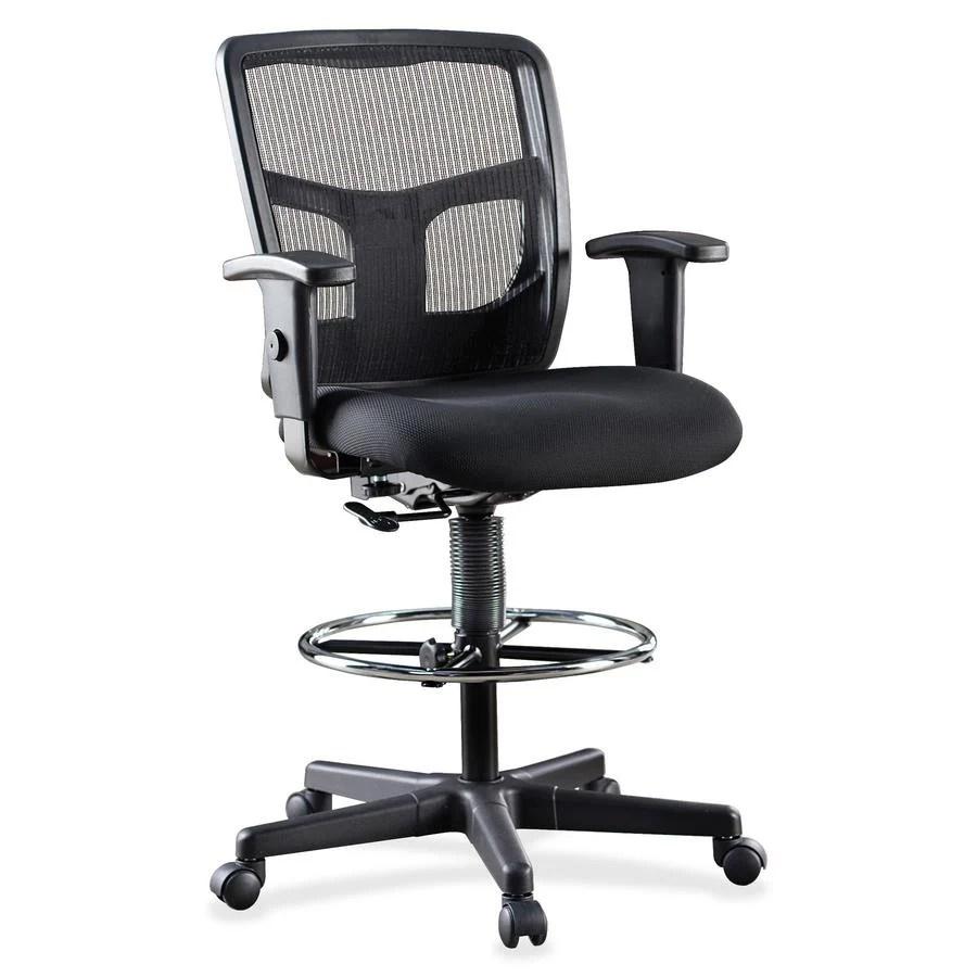 office chair johor portable stadium chairs llr86801 lorell ratchet back mesh mid stool zuma