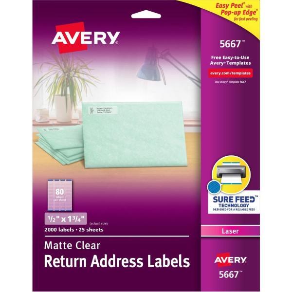 Avery Matte Clear Easy Peel Address Labels - Zerbee