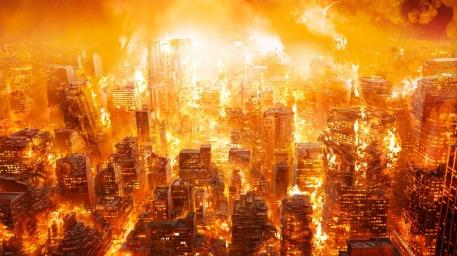 Image result for city on fire