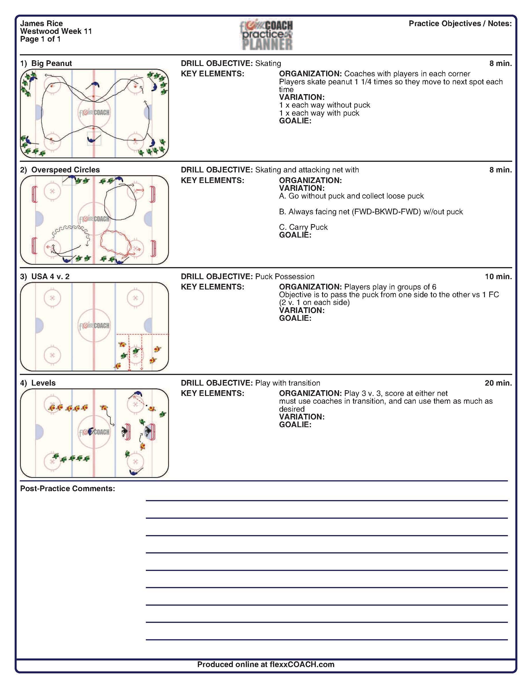 Free Download Program Blank Basketball Practice Plan