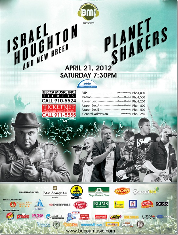 The Planetshakers and Israel Houghton in a Back to Back