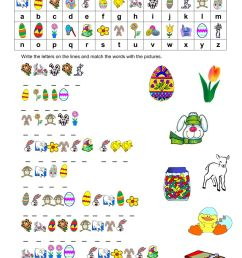 EASTER CRYPTOGRAM worksheet [ 1291 x 1000 Pixel ]