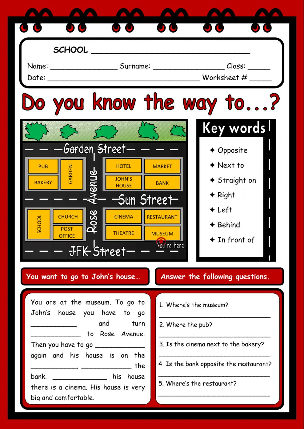 hight resolution of Giving directions interactive worksheet