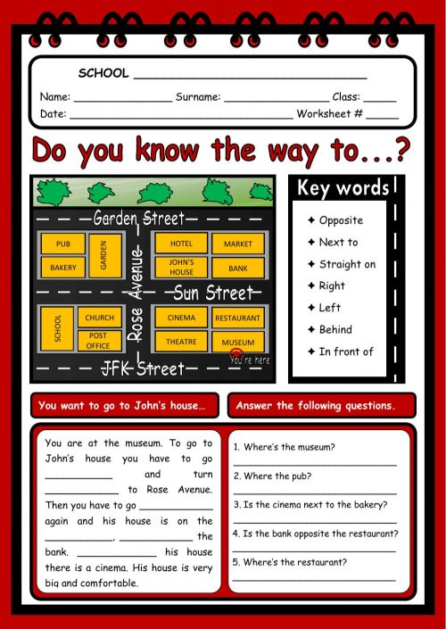 small resolution of Giving directions interactive worksheet