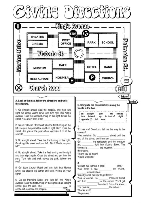 small resolution of Giving directions worksheet