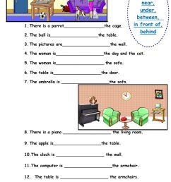 Prepositions of place interactive worksheet [ 1411 x 1000 Pixel ]