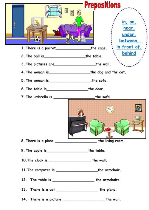 small resolution of Prepositions of place interactive worksheet