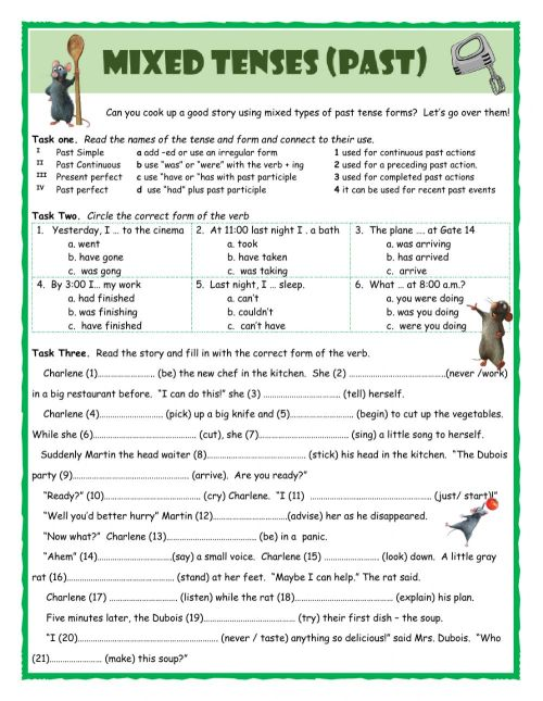 small resolution of Mixed Tenses (Past) worksheet