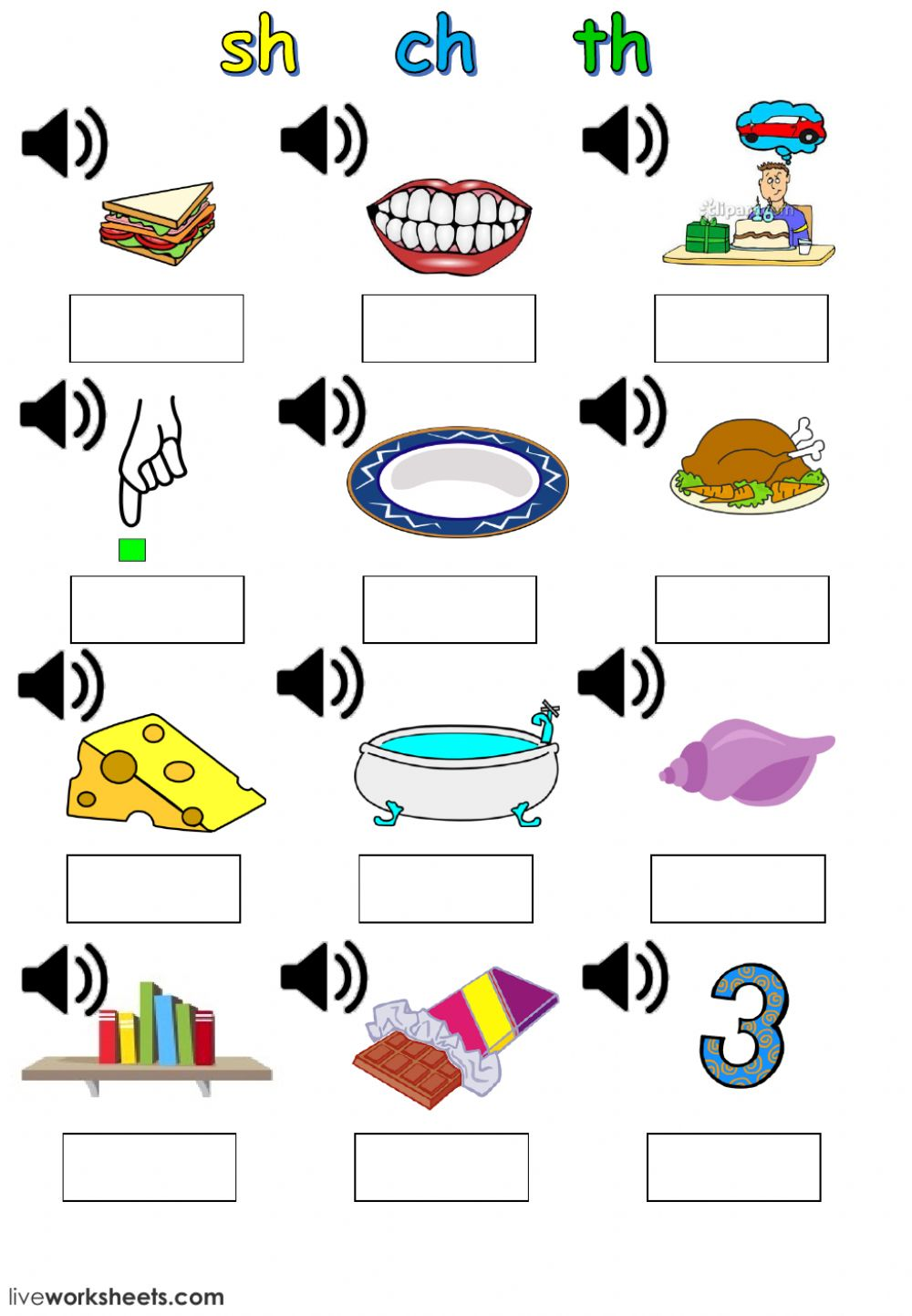 hight resolution of sh ch th digraphs worksheet