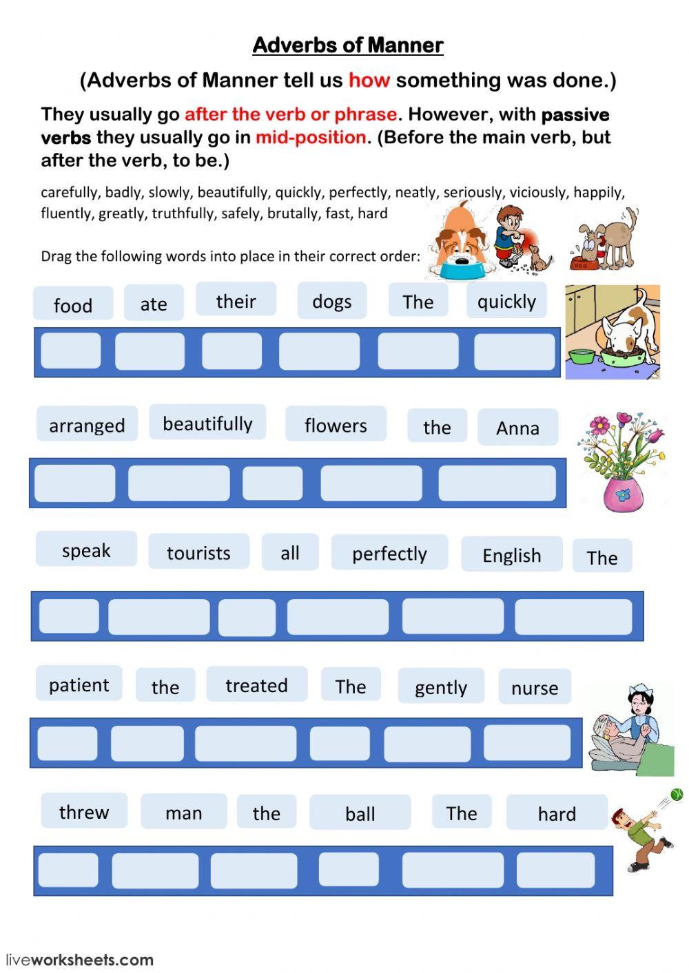 medium resolution of Adverbs of Manner interactive worksheet