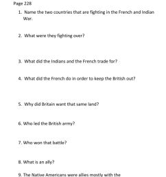 French and Indian War interactive worksheet [ 1291 x 1000 Pixel ]