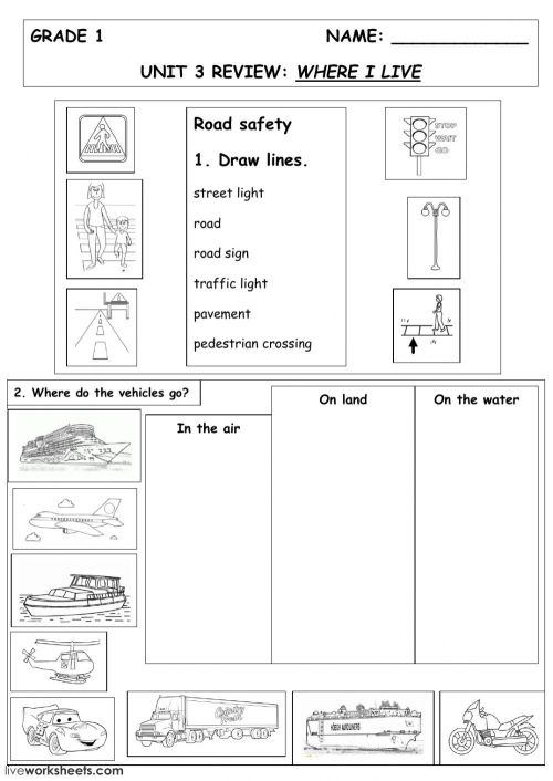small resolution of Where I live worksheet