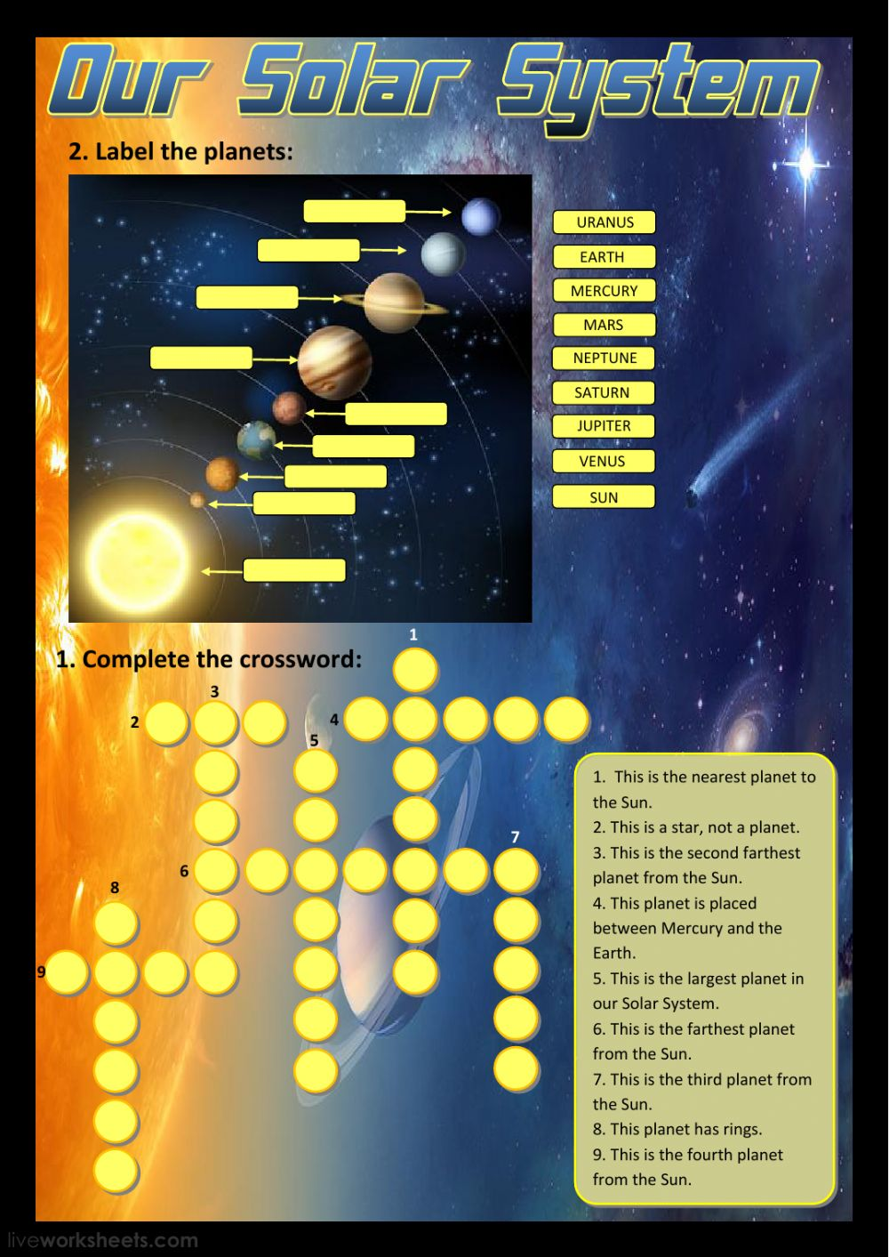 hight resolution of Our Solar System worksheet